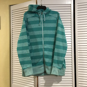 Cabela's mint striped long hoodie/jacket (Large)